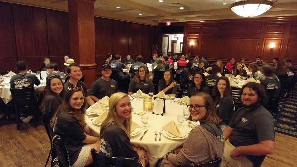 The 68 band members, musics staff & chaperones enjoying dinner