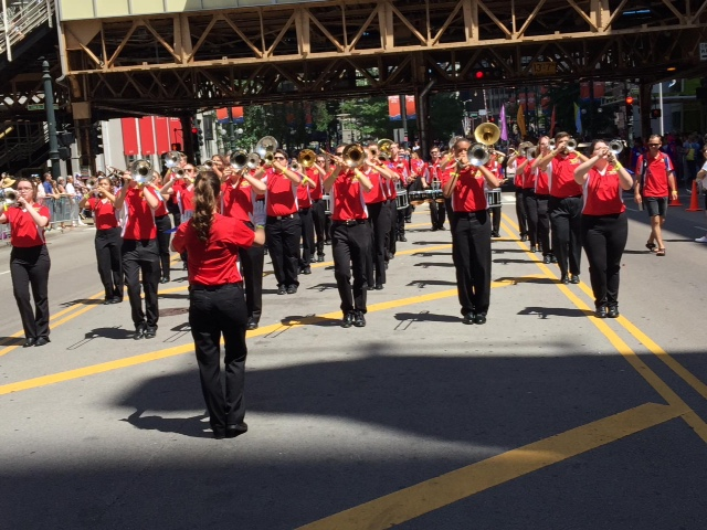 The Alabama Lions Band at the parade