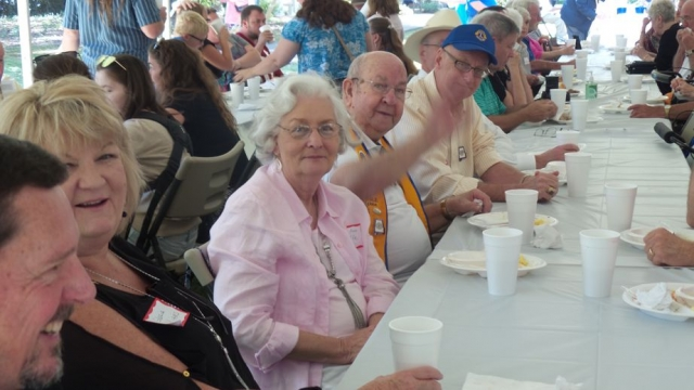 Fun and fellowship was abundant during lunch.