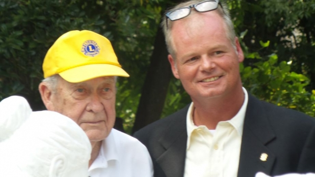 """A dream come true for PDG Johnny Tuten"" - L to R: PDG Johnny and Lion Craigger."