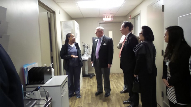 Touring the Lions Eye Clinic