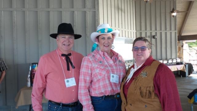 L to R: 1st VDG Andy, Glenda and CC Dora