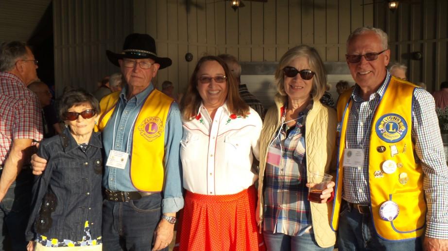 Scottsboro Lion Club Members savors the evening!