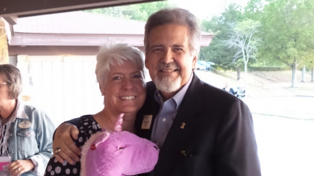 Lions International 3rd VP Judge Haynes Townsend with his wife Donna.