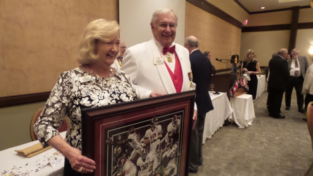 PID Lowell Bonds was tickled to have his wife win the Alabama print!
