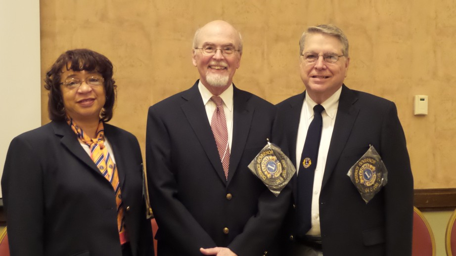 L to R the new Governors for 2018-2019:  Linda Starr - District A; Mark Aldridge - District B; Andy Marshall - District C.