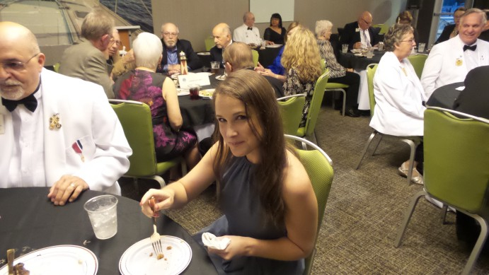 Lim Erin Bishop cleaned her plate at the District Governor's Banquet