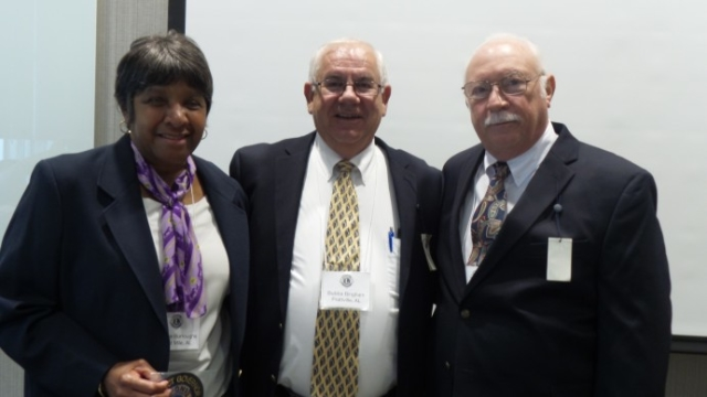 2019-2020 District Governors: Yvonne Burroughs, Bubba Bingham & Larry Bagley.